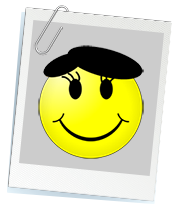 Smiley mit Beret